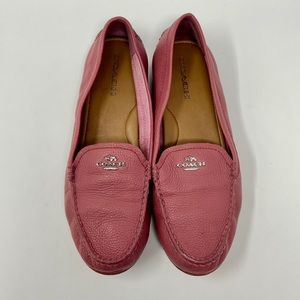 Coach Mary Lock Up Pebblegrain Leather Loafers